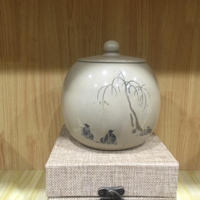 云南建水紫陶白泥茶叶罐。包邮。