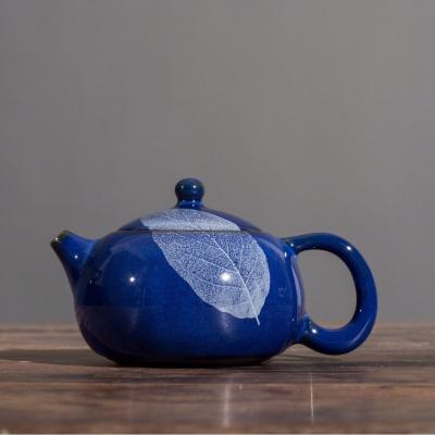 曾广旭大师木叶盏茶壶手工陶瓷天目盏仿古功夫茶具单壶窑变壶泡茶壶