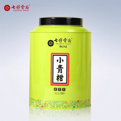 七彩云南新会小青柑柑普茶陈皮普洱熟茶 粒柑见影小青柑350g罐装
