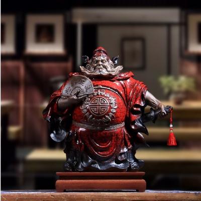 钟馗摆件办公室客厅辟邪供奉神像中式家居镇宅风水转运陶瓷装饰品
