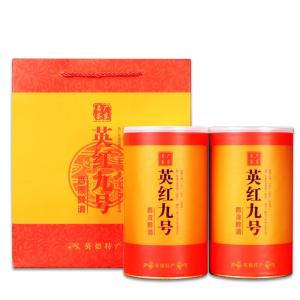 广东特产 英德红茶英红九号霸道兰香老树茶礼盒装一斤两罐装