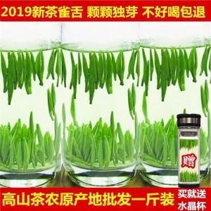 绿茶2020新茶峨眉山竹叶茶雀舌茶叶明前特级嫩芽茶毛尖茶散装500g