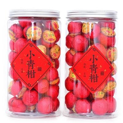 生晒新会小青柑普洱茶500g 茶叶礼盒装 桔普柑普茶陈皮普洱熟茶罐装