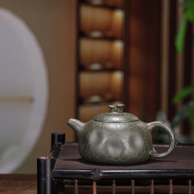 宜兴紫砂壶供春壶原矿绿泥手工制作容量300