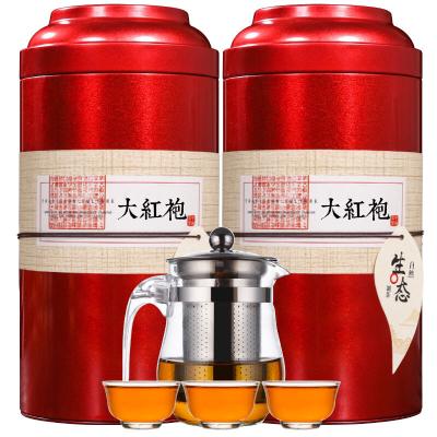 【赠一壶三杯】武夷山大红袍200g/400g礼盒装岩茶散装红茶茶叶