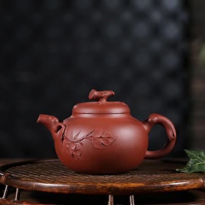 宜兴紫砂壶容量200原矿紫泥硕果累累壶手工制作