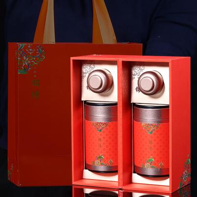 铁观音茶叶大红袍小罐岩茶金骏眉正山小种豪华高档礼盒装锦绣