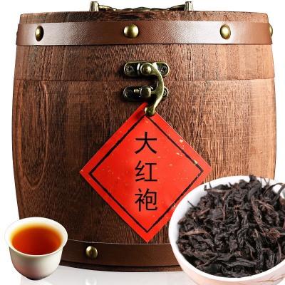 大红袍  红茶  茶叶 大红袍300克木桶装武夷山大红袍茶叶批发