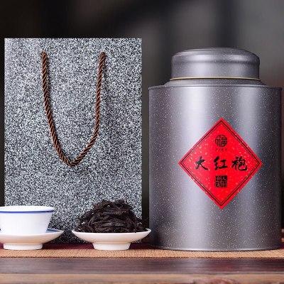 手工大红袍茶叶礼盒装500g水仙浓香型乌龙茶武夷岩茶正岩肉桂罐装