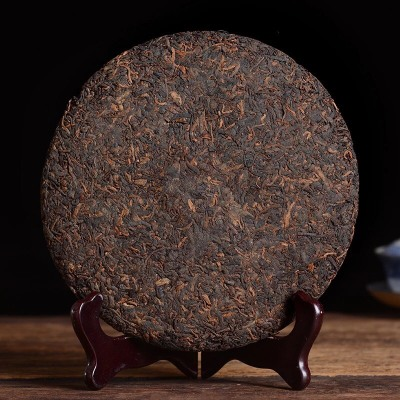 老章班普洱茶熟茶饼特级潽洱茶第一村老班章茶叶 特级 一片357g