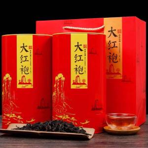 武夷山大红袍茶叶高品质岩茶肉桂特级正宗浓香型新茶罐装500g
