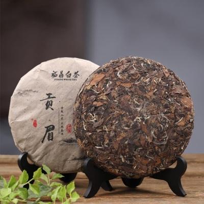 2014正宗磻溪福鼎白茶饼高山陈年贡眉茶饼寿眉白茶福鼎老白茶357g