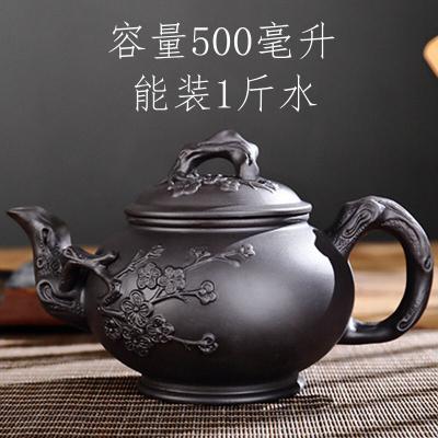 紫砂茶壶紫砂大容量大号紫砂壶家用功夫茶具杯套装宜兴朱泥梅花壶
