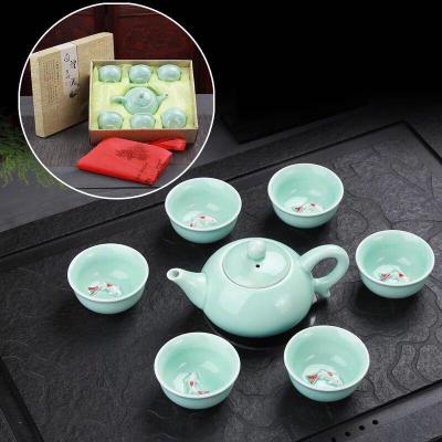 7头鱼茶具送礼盒送袋子 预售 7号发完