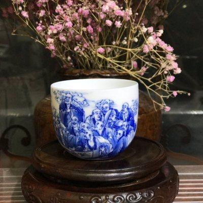 十八罗汉杯(景德镇手绘)