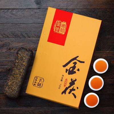 安化黑茶正宗金花茯砖茶正品特级茶1000g金茯黑茶叶湖南安华黑茶