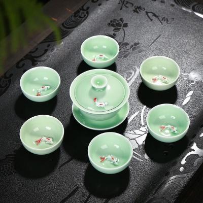 7头鱼茶具  安全包装 买二套送去湿茶一包