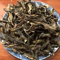2016年蛮砖古树黄片普洱茶黄金叶357g混百分之二十春茶