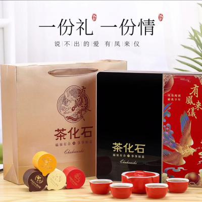 小罐茶碎银子茶化石普洱茶熟茶礼盒茶茶叶茶具一盒解决所有问题 500g