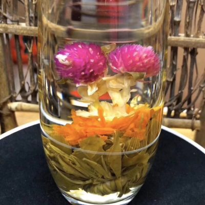 双龙戏珠抖音同款快手网红遇水开花特级皇菊工艺花茶250g双龙戏珠