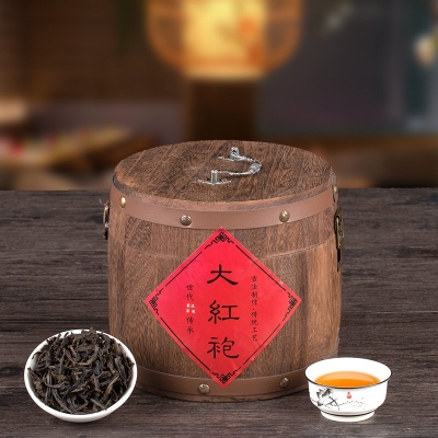 木桶500g罐装武夷大红袍岩茶叶散装礼盒装