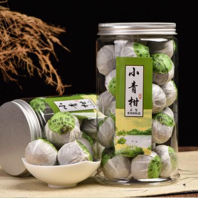 新会小青柑品尝过茶友都赞不绝口个头精巧口感醇爽拑香清新伴随着近几年柑普