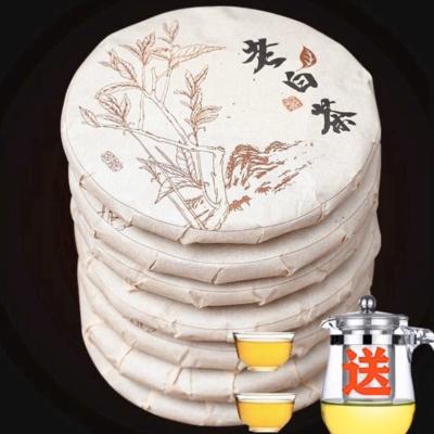 【赠一壶两杯】福鼎白茶寿眉茶叶饼高山陈年福建老白茶350克/饼