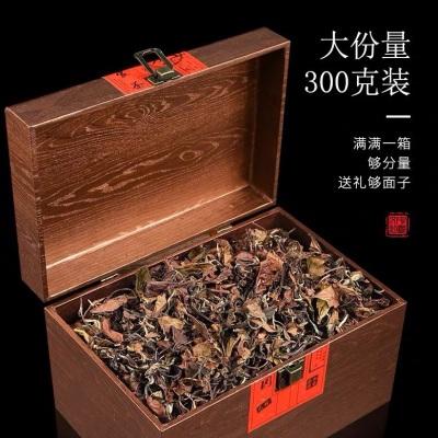 2012年福鼎白茶白牡丹老白茶散茶300g寿眉枣香高档送礼礼盒装木盒