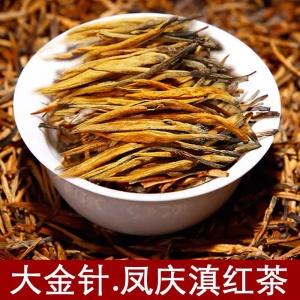 滇红 红茶 凤庆大金针 特级蜜香罐装浓香型茶叶金芽500g