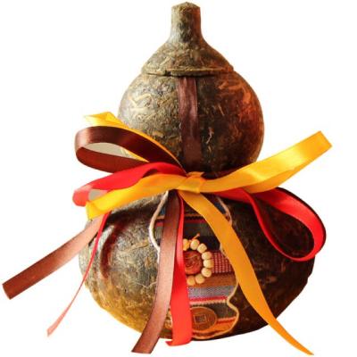 普洱茶生茶 工艺品茶雕摆件 云南特色葫芦家居摆件 普洱茶叶罐子