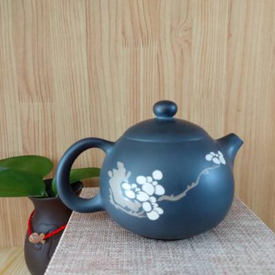 特惠云南建水纯手工制作紫陶西施彩填壶,普洱茶具,工艺精湛,古朴典雅。