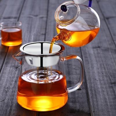 玻璃公道杯 公杯茶漏套装加厚耐热大号茶海分茶器功夫 茶具配件