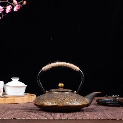 华威礼业铸铁壶带茶网烧水茶壶煮茶壶 日本工艺泡茶壶功夫茶具