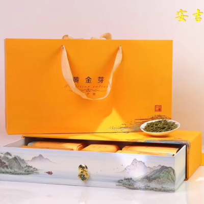 正宗安吉白茶黄金芽茶叶高山明前特级礼盒散装黄金叶绿茶2020新茶