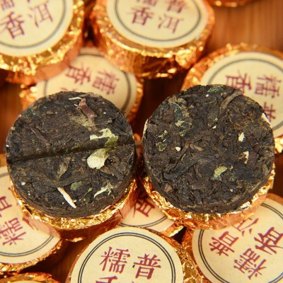 普洱茶 糯米香小金沱 糯香迷你小沱茶 普洱熟茶 茶叶 小金饼