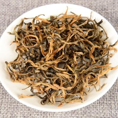 云南茶叶凤庆滇红 古树茶 蜜香金曲红 半卷红碧螺型 500g散茶