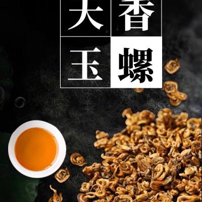 云南滇红单丝蜜香金螺凤庆古树工夫红茶浓香型特级高档茶叶