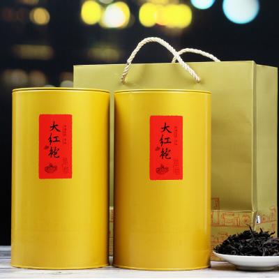 大红袍茶叶浓香型头春岩茶礼盒装500g福建武夷山炭焙乌龙茶罐装