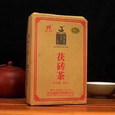 煮奶茶必备 湖南安化黑茶茯砖茶叶 濂溪六洞金花茯砖茶300克