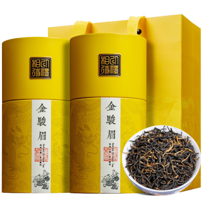 新茶叶正宗金骏眉红茶养胃茶叶黄芽浓香型特级桂圆香礼盒装500g
