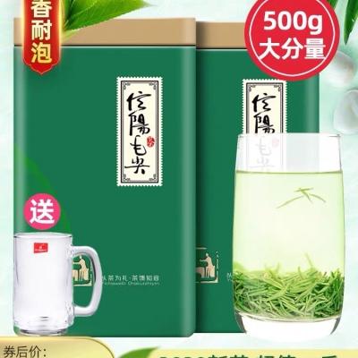 毛尖绿茶信阳毛尖2020新茶雨前高山嫩芽500g浓香耐泡型春茶叶