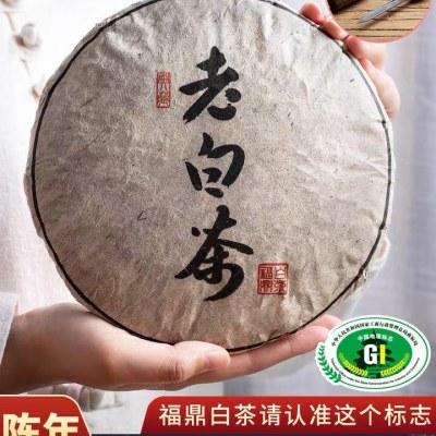 福鼎白茶茶叶饼贡眉茶叶高山陈年寿眉福建老白茶300g