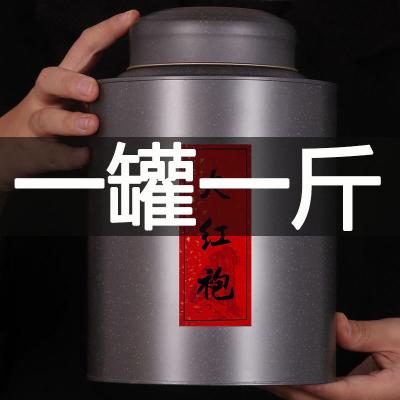2020年手工大红袍茶叶礼盒装500g乌龙茶武夷岩茶正岩肉桂罐装