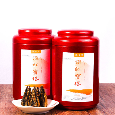 滇红宝塔一斤装特级工夫红茶金芽蜜香金丝宝塔红茶500克礼盒滇红金丝螺
