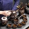 懒人茶具套装高档自动功夫茶具茶杯家用紫砂石磨泡茶器喝茶壶