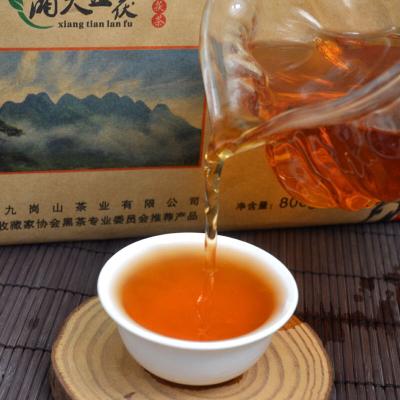 煮奶茶必备 机制800克金花茯砖茶 湖南安化黑茶叶 正宗金花黑茶