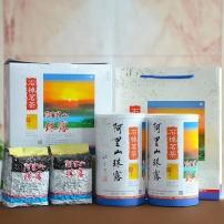 阿里山珠露茶:叶片丰润,浑厚,细嫩,果胶质含量高,茶叶大而肥厚,奶香而
