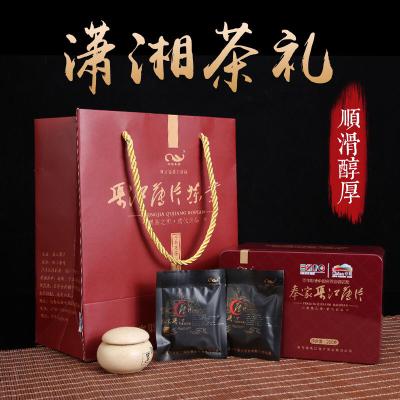 渠江薄片红色铁盒装新化奉家米茶独立包袋速泡方便黑茶鼻祖茶200克