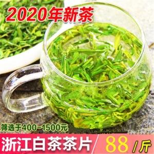 2020年浙江白茶茶片500g 碎茶片绿茶叶 新茶春茶明前散装茶农直销