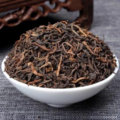 宫廷普洱茶 云南布朗普洱熟茶 05年陈年老茶 散茶 500克